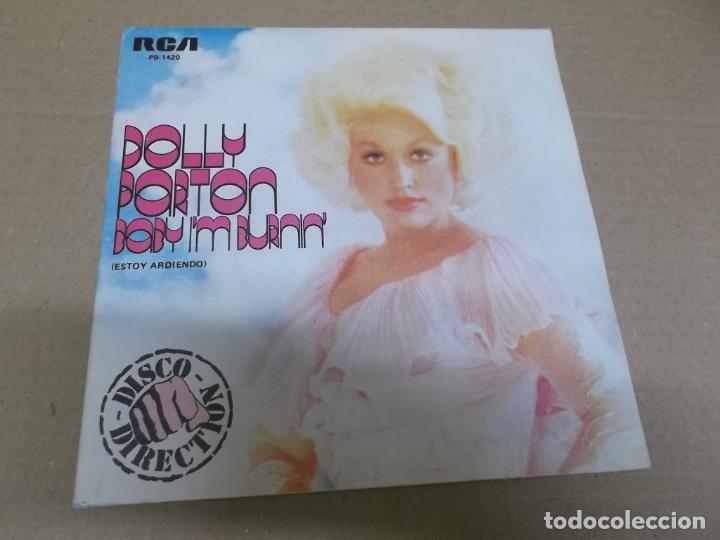 DOLLY PARTON (SINGLE) BABY I'M BURNIN' AÑO 1978 - PROMOCIONAL (Música - Discos - Singles Vinilo - Country y Folk)