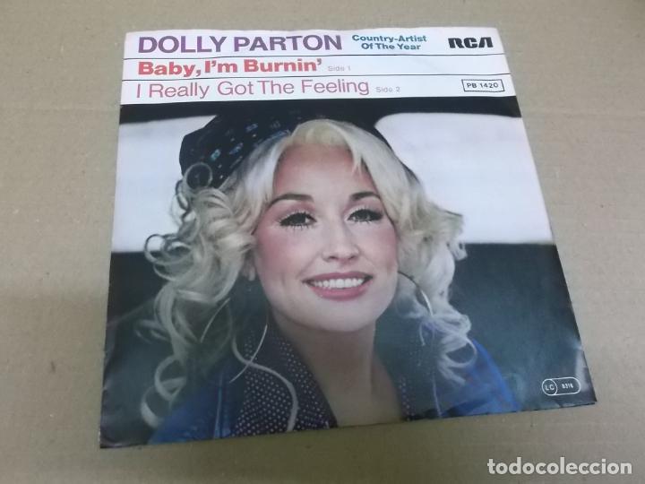 DOLLY PARTON (SINGLE) BABY I'M BURNIN' AÑO 1978 – EDICION ALEMANA (Música - Discos - Singles Vinilo - Country y Folk)