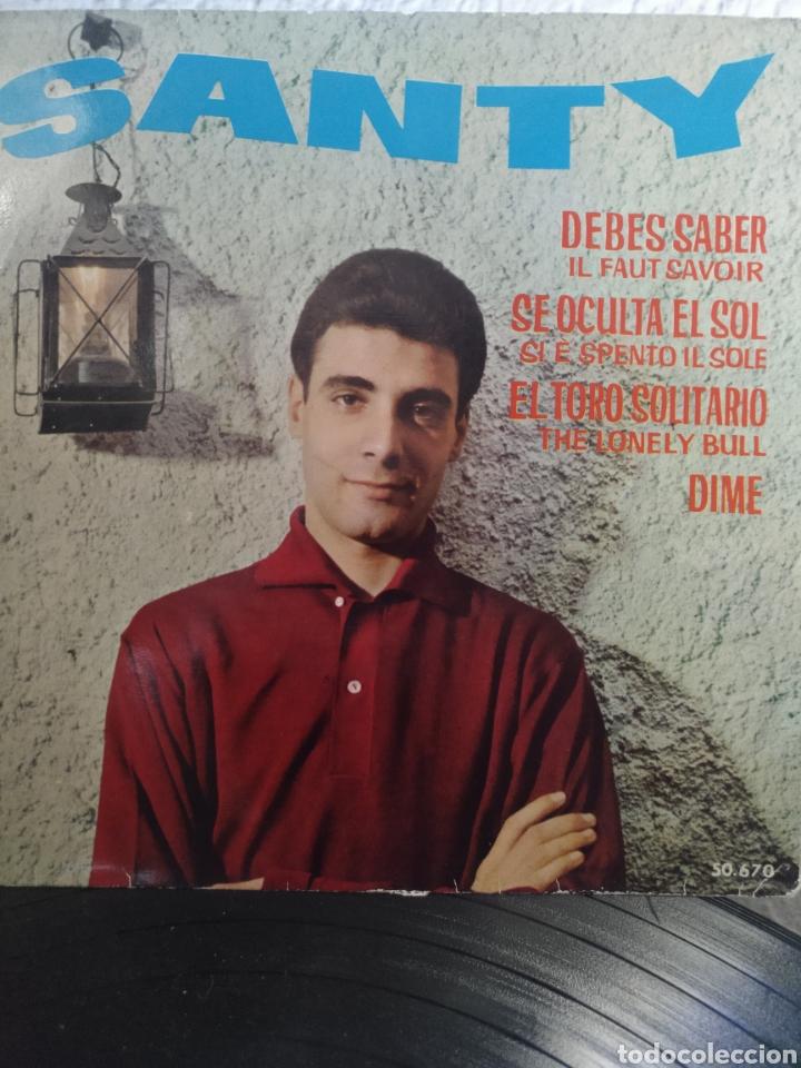 SANTY** THE LONELY BULL * DIME * SE OCULTA EL SOL * DEBES SABER ** (Música - Discos de Vinilo - EPs - Solistas Españoles de los 50 y 60)