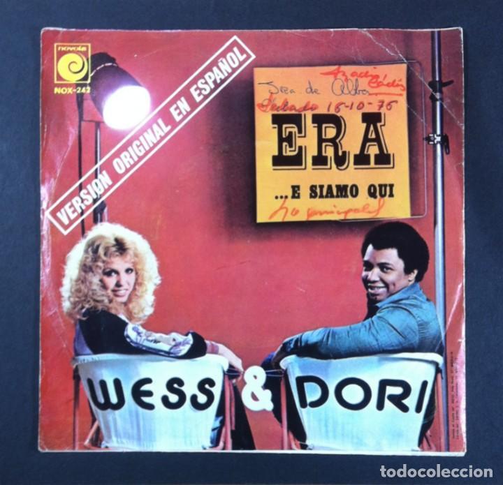 Discos de vinilo: WESS & DORI - Era (version en español) - SINGLE PROMOCIONAL 1975 - NOVOLA (EUROVISION) - Foto 2 - 267480019