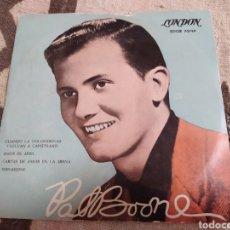 Discos de vinilo: PAT BOONE–WHEN THE SWALLOWS COME BACK TO CAPISTRANO. EP 1958.. Lote 267486929