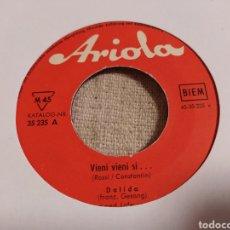 Discos de vinilo: DALIDA–VIENI VIENI SI . SINGLE VINILO EDICIÓN GERMANY 1960. GENÉRICO.. Lote 267489839