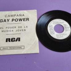 Disques de vinyle: MUY DIFICIL SINGLE.CAMPAÑA GAY POWER DAVID BOWIE RCA PROMOCIONAL 1973 LIFE ON MARS/DRIVE IN SATURDAY. Lote 267493659