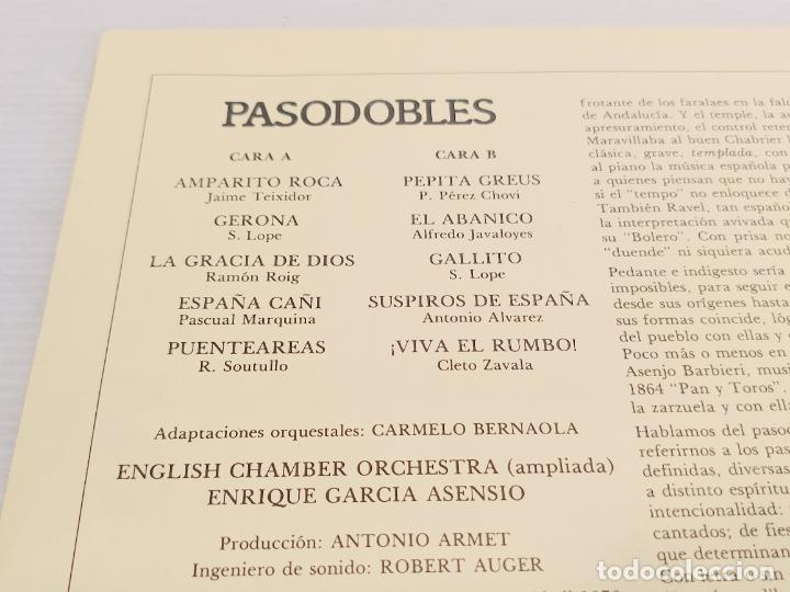 Discos de vinilo: PASODOBLES / E. GARCIA ASENSIO / CHAMBER ORCHESTRA / LP - ZAMBRA-1978 / MBC. ***/*** - Foto 2 - 267500369