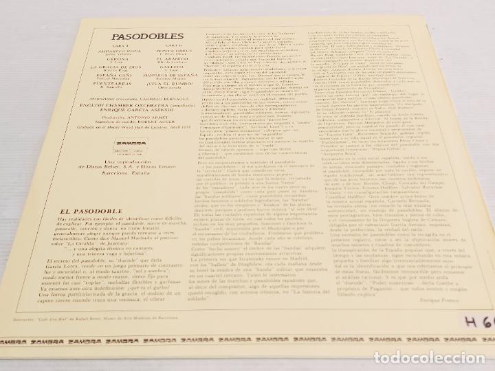 Discos de vinilo: PASODOBLES / E. GARCIA ASENSIO / CHAMBER ORCHESTRA / LP - ZAMBRA-1978 / MBC. ***/*** - Foto 3 - 267500369