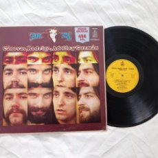 Discos de vinilo: LP SEÑORA AZUL. CÁNOVAS, RODRIGO, ADOLFO Y GUZMÁN. HISPAVOX 130038. CRAG.. Lote 267515704