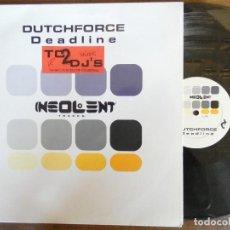Discos de vinilo: DUTCHFORCE DEADLINE. Lote 267535969