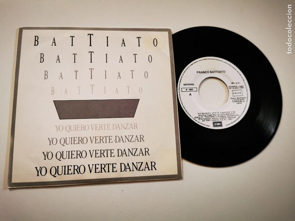 FRANCO BATTIATO YO QUIERO VERTE DANZAR CANTADO EN ESPAÑOL SINGLE VINILO PROMO 1987 ESPAÑA 2 TEMAS (Música - Discos - Singles Vinilo - Canción Francesa e Italiana)
