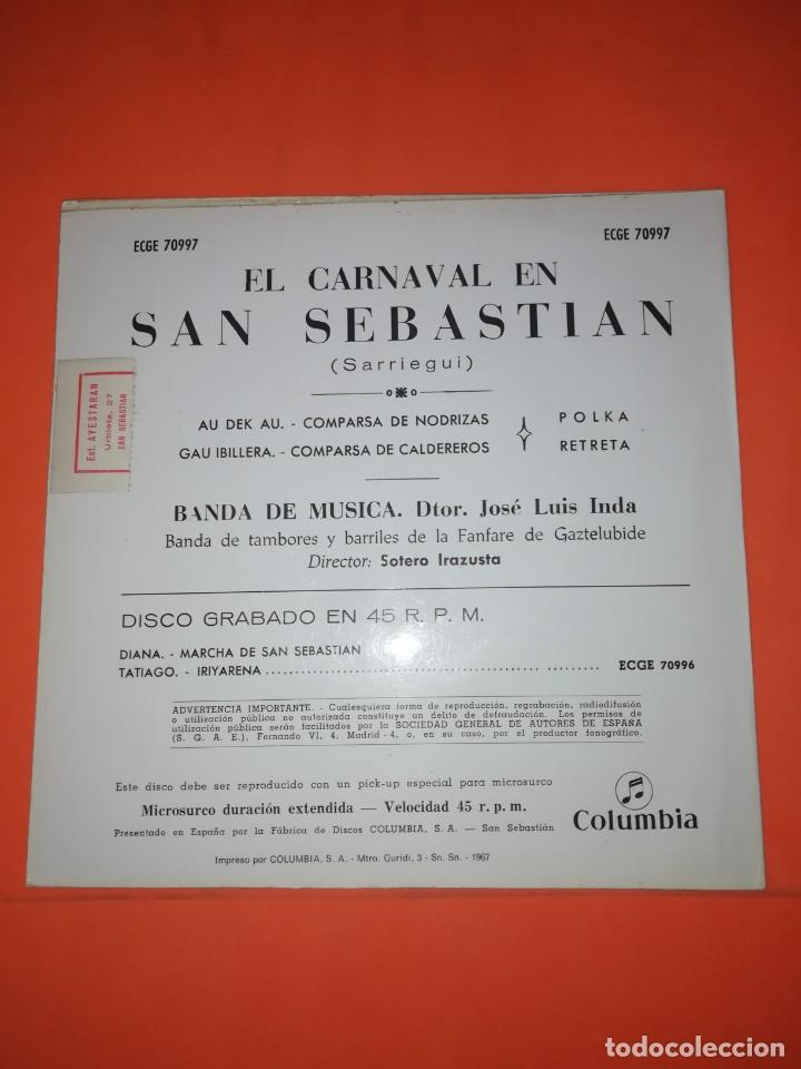 Discos de vinilo: EL CARNAVAL EN SAN SEBASTIAN. COLUMBIA RECORDS. 1967. MUY BUEN ESTADO - Foto 2 - 267563074