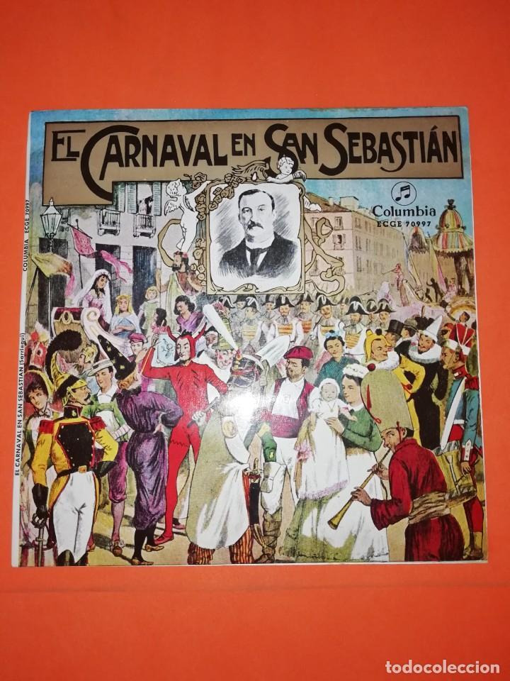 EL CARNAVAL EN SAN SEBASTIAN. COLUMBIA RECORDS. 1967. MUY BUEN ESTADO (Música - Discos de Vinilo - EPs - Orquestas)