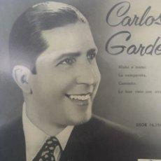 Discos de vinilo: CARLOS GARDEL** MANO A MANO * LA CUMPARSITA * CAMINITO* LO HAN VISTO CON OTRA **. Lote 267564164
