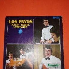 Discos de vinilo: LOS PAYOS. MARIA ISABEL. HISPAVOX 1969. BUEN ESTADO. Lote 267564504
