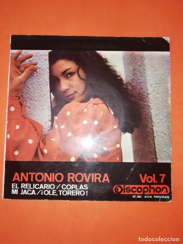 ANTONIO ROVIRA. EL RELICARIO. DISCOPHON . VOL. 7. 1964. BUEN ESTADO (Música - Discos de Vinilo - EPs - Flamenco, Canción española y Cuplé)