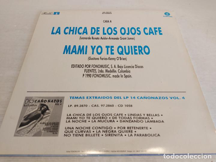 Discos de vinilo: LOUIS TOWERS Y EL GRUPO KERUBE / LA CHICA DE LOS OJOS CAFE / MAXI SG- FONOMUSIC / MBC. ***/*** - Foto 2 - 267591644