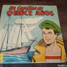 Discos de vinilo: UN CAPITÁN DE QUINCE AÑOS. ODEON DSOE 16401/2. QUINTILLA Y CARDONA. BARCELONA, 1960. DISCO-COMIC. Lote 267595994