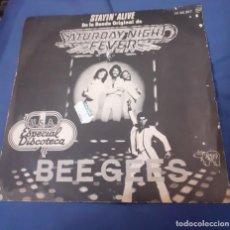 Discos de vinilo: DISCO SINGLE DE BEEGEES DE LA BANDA SONORA DE LA PELICULA FIEBRE DEL SABADO NOCHE. ENVIO CERTIFICADO. Lote 267602814