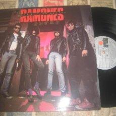 Disques de vinyle: RAMONES.HALFWAY TO SANITY (ARIOLA-1987) PRIMERA EDICION OG ESPAÑA LEA DESCRIPCION. Lote 267603629