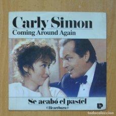 Disques de vinyle: CARLY SIMON - COMING AROUND AGAIN - SINGLE. Lote 267618984