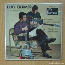 Discos de vinilo: DUO CRAMER CON LOS RELAMPAGOS- MI TALISMAN /PEQUEÑA CHICA /BAILANDO LOCOMOCION /SUCEDIO EN MI - EP. Lote 267619434