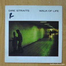Disques de vinyle: DIRE STRAITS - WALK OF LIFE/ TWO YOUNG LOVERS (LIVE) - SINGLE. Lote 267619684