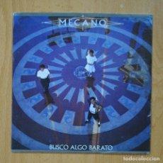 Disques de vinyle: MECANO - BUSCO ALGO BARATO / AIRE - PROMO - SINGLE. Lote 267619999