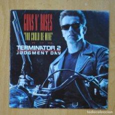 Disques de vinyle: GUNS N`ROSES -YOU COULD BE MINE / CIVIL WAR - SINGLE. Lote 267620024
