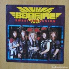 Disques de vinyle: BONFIRE - SWEET OBSESSION - SINGLE. Lote 267620839