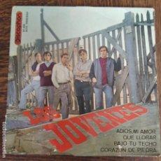 Discos de vinilo: LOS JOVENES - EP - ADIOS MI AMOR/ QUE LLORAR/ BAJO TU TECHO/ CORAZON DE PIEDRA. Lote 267636299