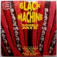 Dischi in vinile: BLACK MACHINE - DOUBLE MIX - DOBLE MAXI PLM RECORDS 1993 ITALIA BPY. Lote 267638734