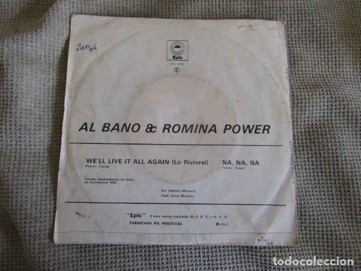 """Discos de vinilo: Al Bano & Romina Power - We´ll Live it All Again - Single 7"""" Eurovisión 76 Editado En Portugal - Foto 2 - 267639939"""