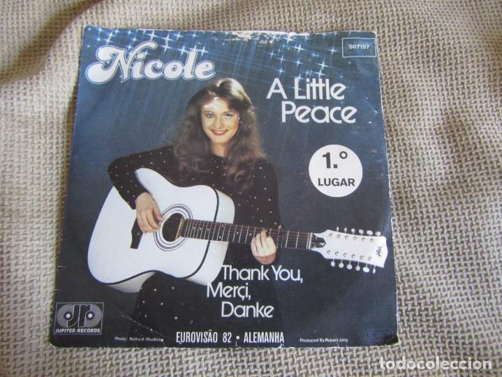 """NICOLE - A LITTLE PEACE - SINGLE 7"""" EUROVISIÓN 82 EDITADO EN PORTUGAL (Música - Discos - Singles Vinilo - Festival de Eurovisión)"""