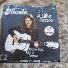 "Discos de vinilo: NICOLE - A LITTLE PEACE - SINGLE 7"" EUROVISIÓN 82 EDITADO EN PORTUGAL. Lote 267655594"