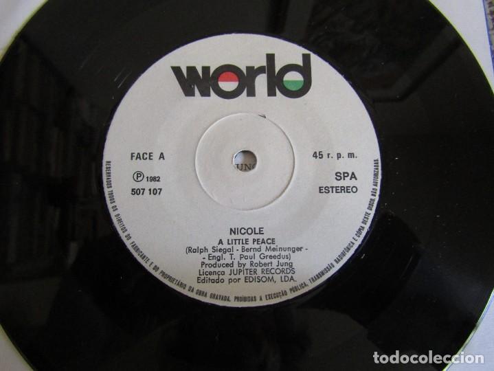 "Discos de vinilo: Nicole - A Little Peace - Single 7"" Eurovisión 82 Editado En Portugal - Foto 4 - 267655594"