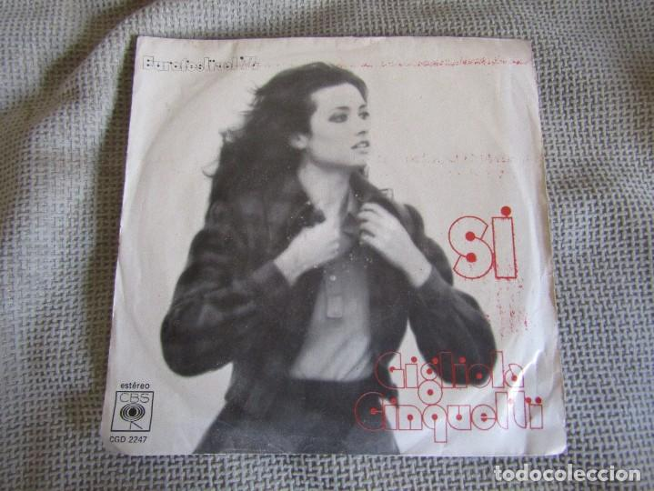 "GIGLIOLA CINQUETTI - SI - SINGLE 7"" EUROVISIÓN 74 EDITADO EN PORTUGAL (Música - Discos - Singles Vinilo - Festival de Eurovisión)"