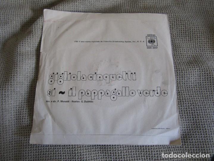 """Discos de vinilo: Gigliola Cinquetti - Si - Single 7"""" Eurovisión 74 Editado En Portugal - Foto 2 - 267660269"""