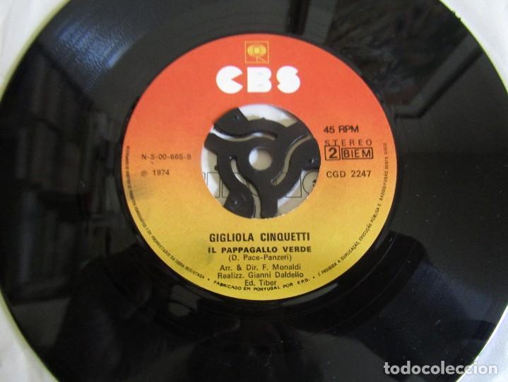 """Discos de vinilo: Gigliola Cinquetti - Si - Single 7"""" Eurovisión 74 Editado En Portugal - Foto 6 - 267660269"""