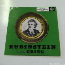 Discos de vinilo: RUBINSTEIN ITERPRETA GRIEG - PIANO 45 RPM RCA. Lote 267660644
