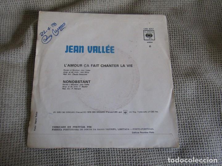 "Discos de vinilo: Jean Vallée - L´Amour ça Fait Chanter la Vie - Single 7"" Eurovisión 78 Editado En Portugal - Foto 2 - 267662649"
