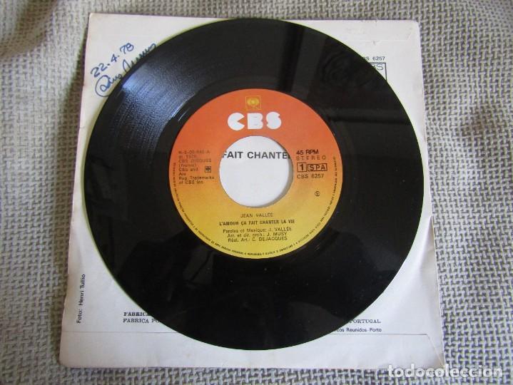 "Discos de vinilo: Jean Vallée - L´Amour ça Fait Chanter la Vie - Single 7"" Eurovisión 78 Editado En Portugal - Foto 3 - 267662649"