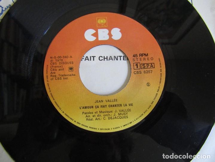 "Discos de vinilo: Jean Vallée - L´Amour ça Fait Chanter la Vie - Single 7"" Eurovisión 78 Editado En Portugal - Foto 4 - 267662649"