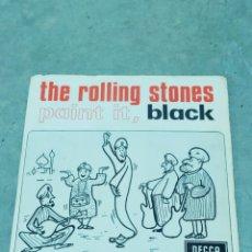 Discos de vinilo: THE ROLLING STONES - PAINT IT, BLACK - DECCA 1966. Lote 267665184