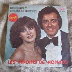 "Discos de vinilo: CALINE ET OLIVIER TOUSSAINT - LES JARDINS DE MONACO - SINGLE 7"" EUROVISIÓN 78 EDITADO EN PORTUGAL. Lote 267665264"