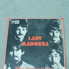 Discos de vinilo: THE BEATLES - LADY MADONNA, THE INNER LIGHT- ODEON 1968 EP ESPAÑOL. Lote 267673539