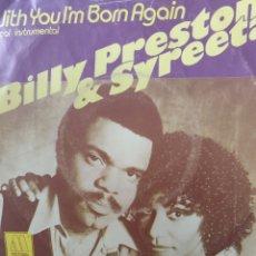Discos de vinilo: BILLY PRESTON & SYREETA ** WITH YOU I'M BORN AGAIN **. Lote 267705609