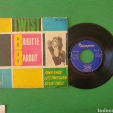 Discos de vinilo: SINGLE E.P. BRIGITTE BARDOT. TWIST. DISCOPHON - 1961. Lote 267711724