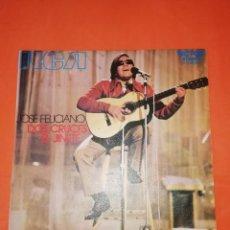 Discos de vinilo: JOSE FELICIANO. DOS CRUCES. RCA VICTOR. 1971. MUY BUEN ESTADO.. Lote 267721539