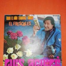 Discos de vinilo: LUIS AGUILE. TODO EL AÑO TENDRAS AMOR. MOVIE PLAY 1969. BUEN ESTADO. Lote 267722514