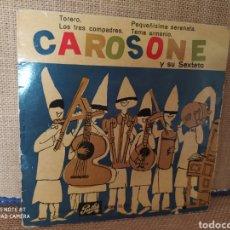 Disques de vinyle: SINGLE CAROSONE Y SU SEXTETO. Lote 267722579