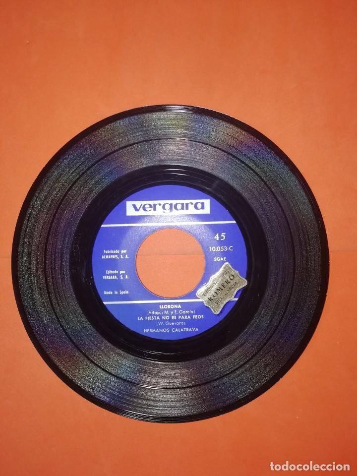 Discos de vinilo: HERMANOS CALATRAVA. LLORONA. VERGARA RECORDS 1968. BUEN ESTADO. - Foto 4 - 267731364