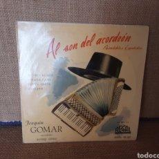 Discos de vinilo: AL SON DEL ACORDEÓN; PASODOBLES ESPAÑOLES. JOAQUÍN GOMAR. Lote 267731429
